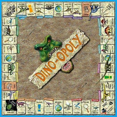 Dino-opoly board plan