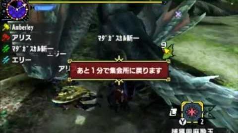 モンスターハンタークロス MHX - 白疾風ナルガクルガ White Gale Nargacuga Quest 9