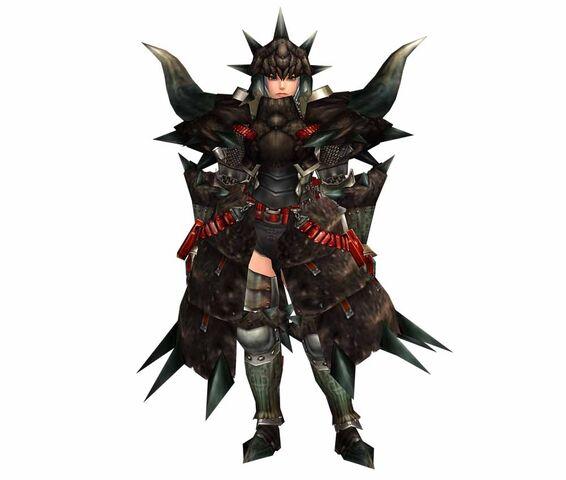 File:FrontierGen-Black Diablos G Armor (Blademaster) (Female) Render 001.jpg