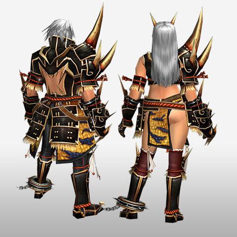 File:FrontierGen-Kishin Armor (Blademaster) and Doji Armor (Gunner) (Back) Render.jpg