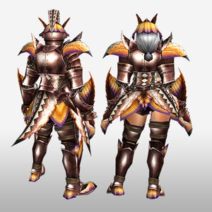 FrontierGen-Paria Armor (Blademaster) (Back) Render