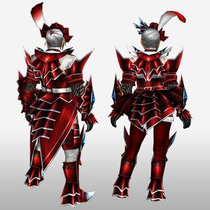 FrontierGen-Akura U Armor 003 (Blademaster) (Back) Render