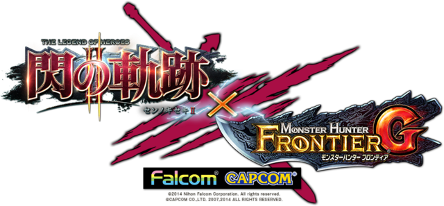 File:Logo-The Legend of Heroes Sen no Kiseki II x MHFG.png