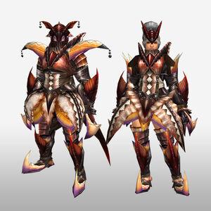 FrontierGen-Diboa Armor (Blademaster) (Front) Render