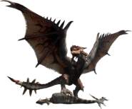 MHF2-Rathalos and Aptonoth Render 001