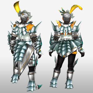 FrontierGen-Akura U Armor 007 (Blademaster) (Back) Render