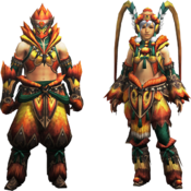 MH4U-Kecha Armor (Blademaster) Render 001