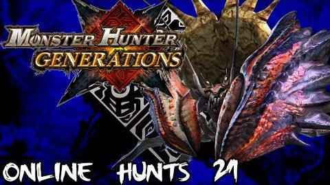 Monster Hunter Generations - Online Hunts 21 Giant Enemy Crab!