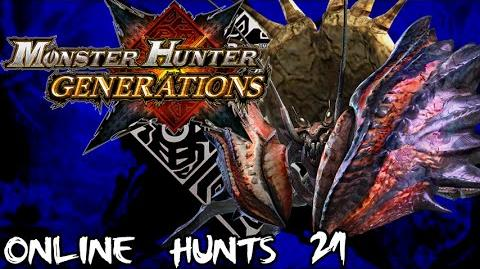 Monster Hunter Generations - Online Hunts 21 Giant Enemy Crab!