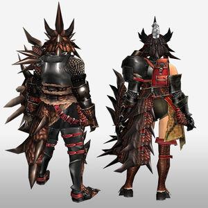 FrontierGen-Reusu G Armor (Gunner) (Back) Render