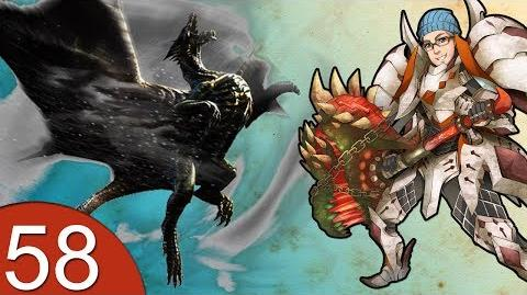 Monster Hunter 4 Nubcakes 58 - Kushala Daora Tower DLC English commentary online gameplay