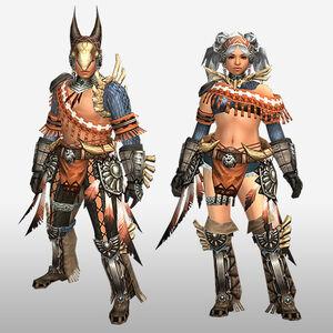 FrontierGen-Kukubo Armor (Blademaster) (Front) Render
