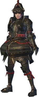 File:MHO-Lone Shen Gaoren Armor (Gunner) (Female) Render 001.png