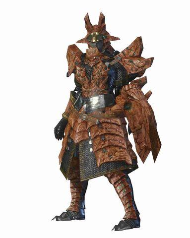 File:MHO-Sandstone Basarios Armor (Gunner) (Female) Render 001.jpg