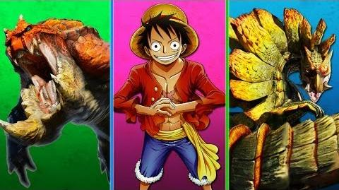 Monster Hunter 4 Event Quest 05 - One Piece Luffy's Fists (Dual Blades)