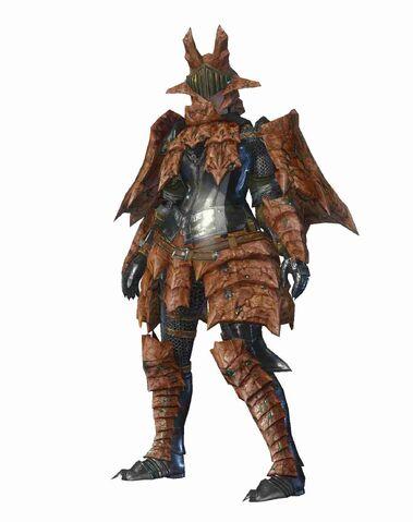 File:MHO-Sandstone Basarios Armor (Blademaster) (Female) Render 001.jpg