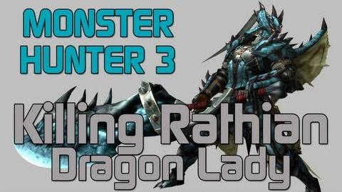 Monster Hunter 3 Ultimate - Low Rank Quest - Rathian - Dragon Lady