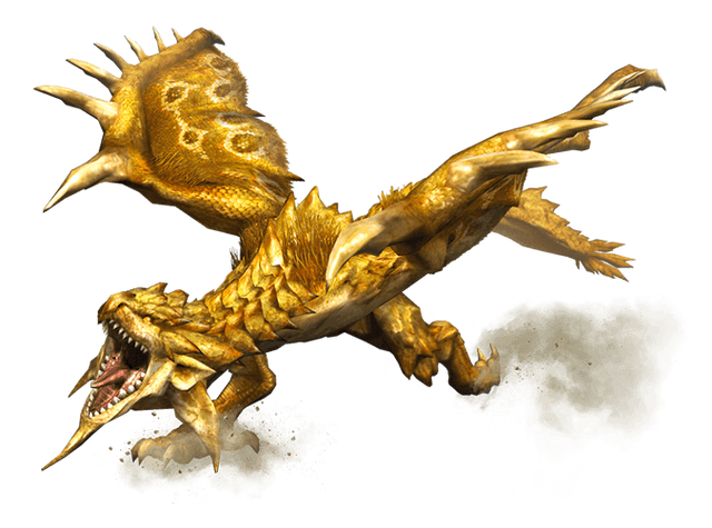 File:MHP3-Gold Rathian Render 001.png