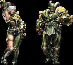 FrontierGen-Vangis Armor (Gunner) (Both) Render 2