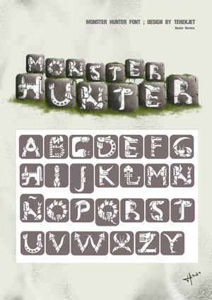 File:Monster Hunter font design by terekjet.jpg