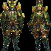 MH4U-Tetsucabra Z Armor (Blademaster) Render 001