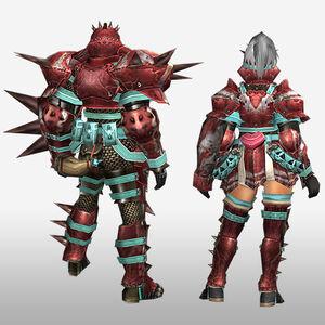 FrontierGen-Zazami G Armor (Gunner) (Back) Render
