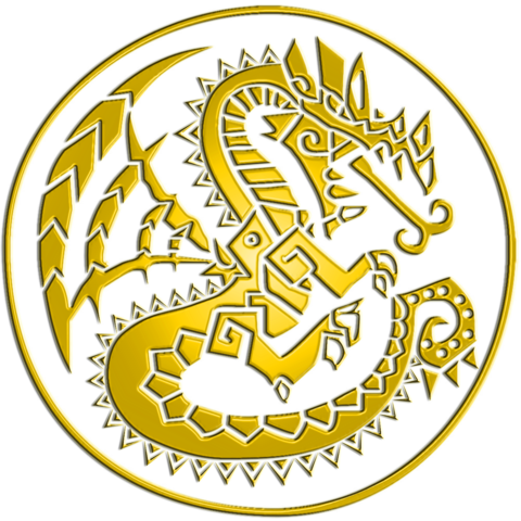 File:Monster Hunter Logo Gold.png