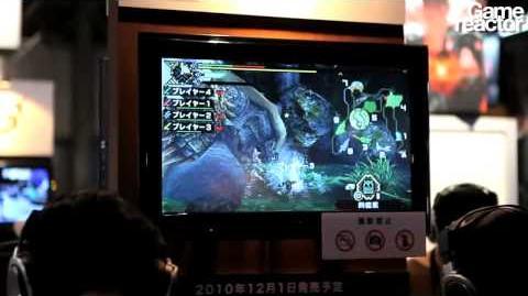TGS 10 Monster Hunter Portable 3 gameplay