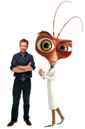 Dr. Cockroach and Hugh Laurie