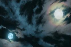 Moon and nayug sun