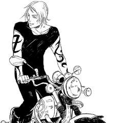 Jace on vampire bike