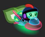Moshi Karts moshlings neon Captain Squirk