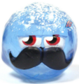 Mustachio figure frostbite blue