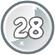 Level 28 icon
