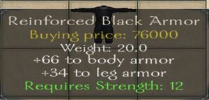 Reinforced Black Armor