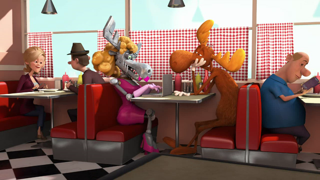 File:Bullwinkle the Moose is on a romantic love date with the lady moose robot.png