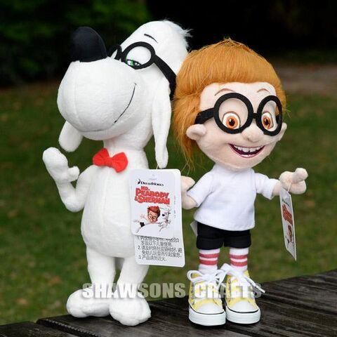 File:Mr. Peabody and Sherman plush toys.jpg