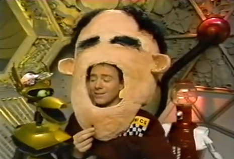 File:MST3k- Joel's Big Head invention exchange in Star Force- Fugitive Alien II.jpg