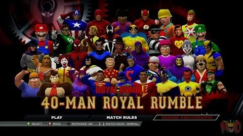 WWE 2016 - 40 Ppl (people) Royal Rumble for 10,750$