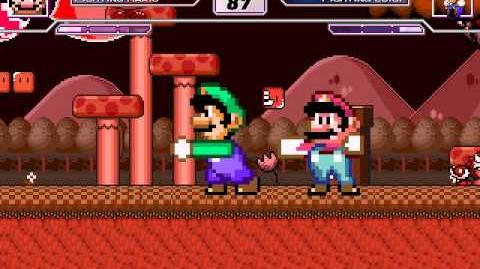 SM Mugen Battle 22 Fighting Mario vs Fighting Luigi