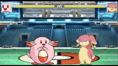 Mugen battles 3 Chansey (Me) Vs Audino