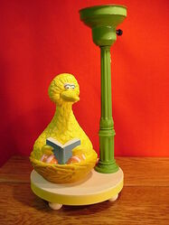 Lamp big bird reading 2