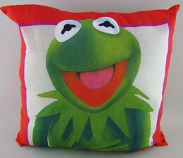 D & m 1981 satin throw pillow kermit 1