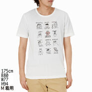 Mono comme ca ism japan 2013 t-shirt feelings with rhinestone elmo white