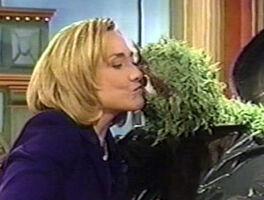 Kiss Oscar Hillary Clinton