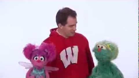 Healthy Habits Wisconsin Gov. Scott Walker and Sesame Street