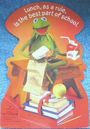 Hallmark 1982 wall decoration kermit lunch