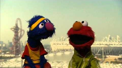 Sesame Street Muppets Elmo and Grover visit the 2012 Olympics
