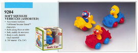 Illco 1992 baby toys soft squeeze vehicles