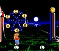 Ernie in NES Letter-Go-Round game